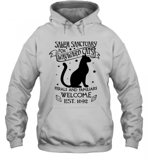 Salem Sanctuary For Waywaed Cats Ferals And Familiars Welcome Est T-Shirt Unisex Hoodie