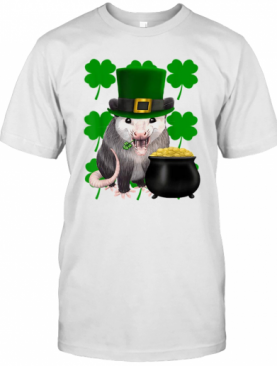 St. Patrick'S Day Possum With Clovers T-Shirt