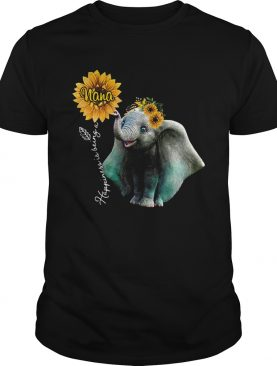 Sunflower Elephant Happiness Is Being A Nana shirt