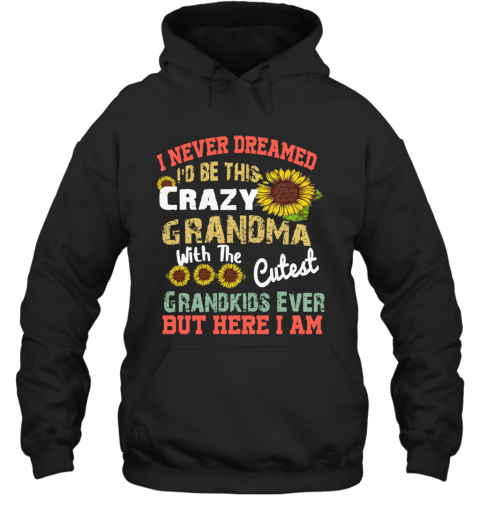 Sunflower I Never Dreamed I'd Be This Crazy Grandma T-Shirt Unisex Hoodie
