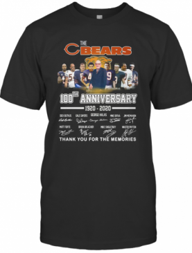 The Chicago Bears 100Th Anniversary 1920 2020 Thank You For The Memories T-Shirt