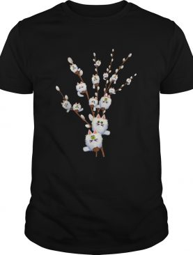 White Cat Willows Flowers Gift shirt