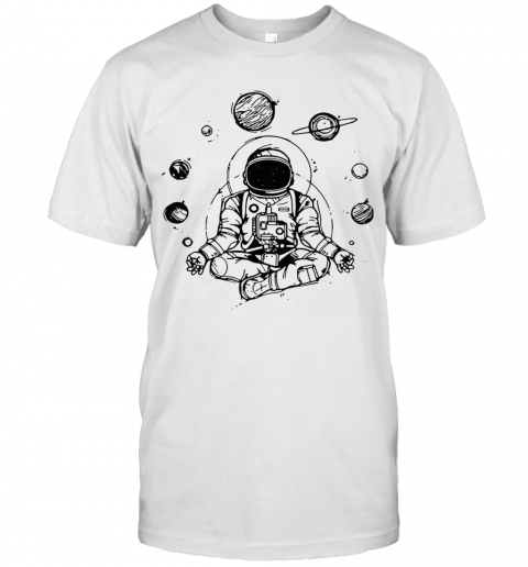 Astronaut Yoga Spiritual Space T-Shirt Classic Men's T-shirt