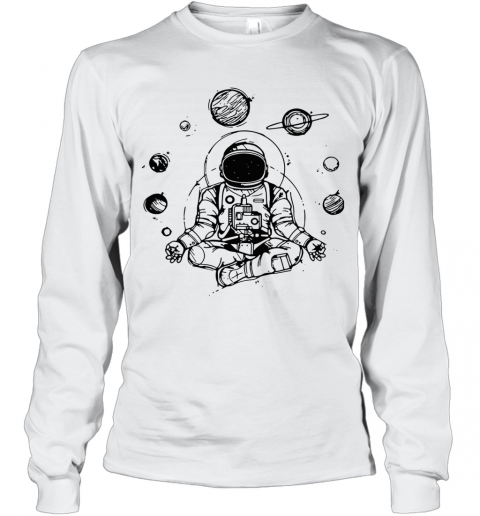 Astronaut Yoga Spiritual Space T-Shirt Long Sleeved T-shirt