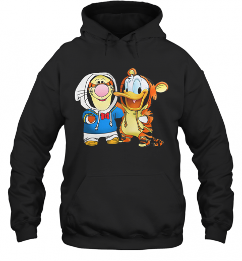 Baby Tigger And Donald Duck T-Shirt Unisex Hoodie
