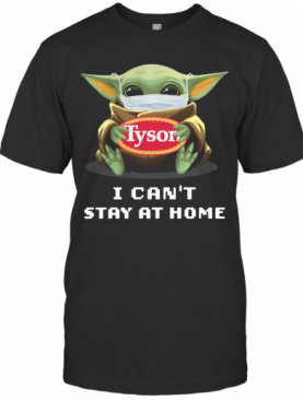 Baby Yoda Face Mask Hug Tison I Can't Stay At Home T-Shirt