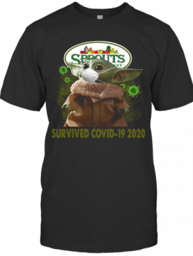 Baby Yoda Sprouts Farmers Market Survived Covid 19 2020 T-Shirt