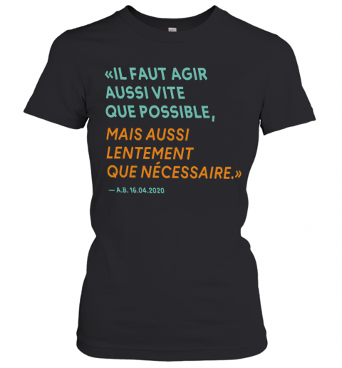 By The Way Alain Berset T-Shirt Classic Women's T-shirt