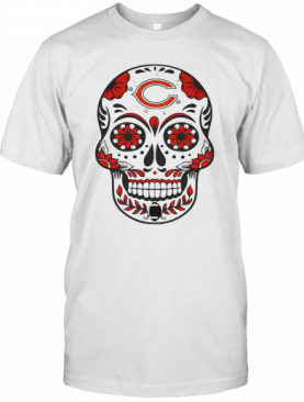 Chicago Bears Football Sugar Skull T-Shirt