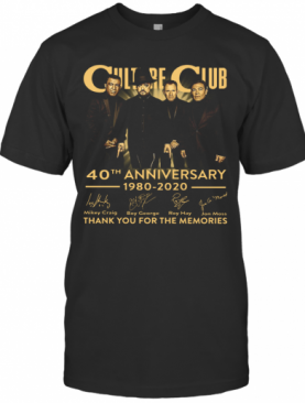 Culture Club 40Th Anniversary 1980 2020 Thank You For The Memories T-Shirt
