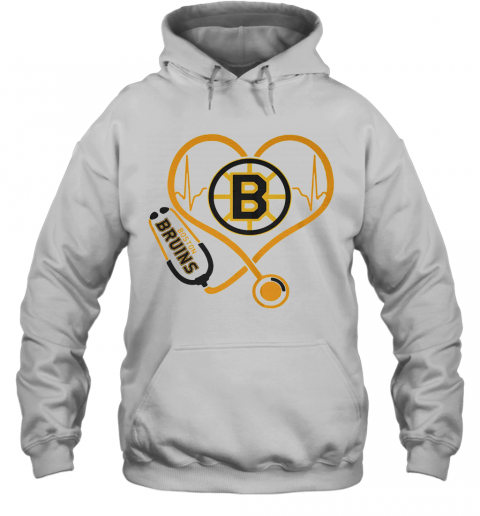 Heartbeat Nurse Love Boston Bruins T-Shirt Unisex Hoodie