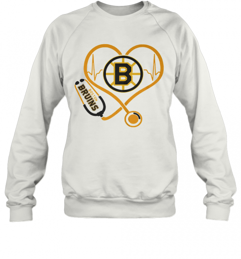 Heartbeat Nurse Love Boston Bruins T-Shirt Unisex Sweatshirt