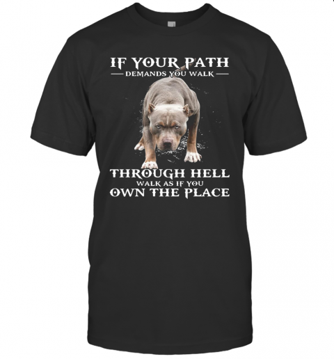 If Your Path Demands You Walk Through Hell Walk As If You Own The Place T Shirt Classic Mens T shirt