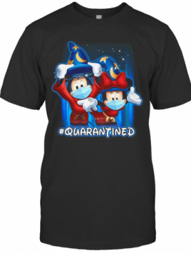 Mickey And Minnie Mouse Mask Fantasia Quarantined T-Shirt