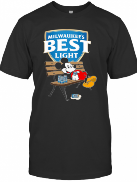 Mickey Mouse Drink Milwaukee's Best Light Beer T-Shirt
