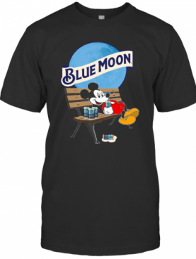 Mickey Mouse Drink Pabst Blue Moon Beer T-Shirt