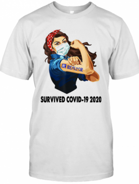 Strong Woman Tattoos Realtor Survived Covid 19 2020 T-Shirt