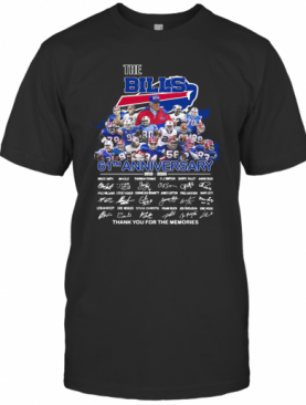 The Buffalo Bills 61Th Anniversary Thank You For The Memories Signature T-Shirt