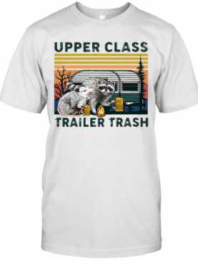 Vintage Raccoons And Opossums Upper Class Trailer Trash T-Shirt