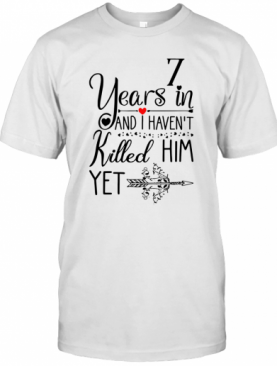 7Th Wedding Anniversary For Her 7 Years Of Marriage T-Shirt