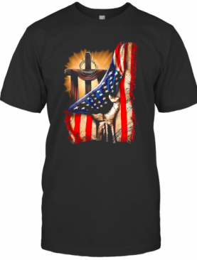 American Flag Cross T-Shirt