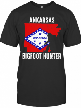 Arkansas Bigfoot Hunter Flag T-Shirt