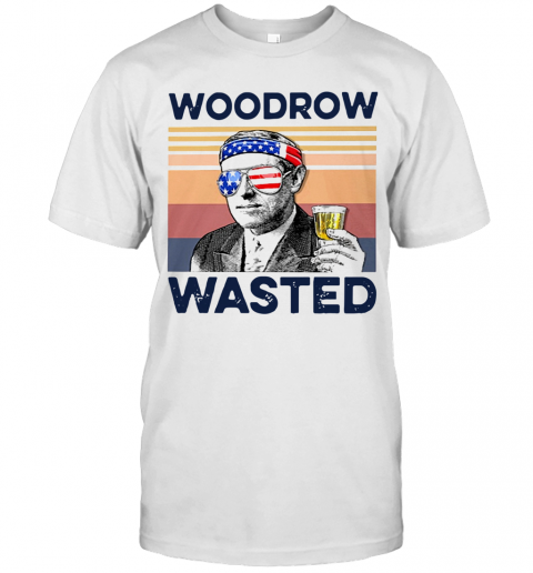 Beautiful American Flag Woodrow Wasted T-Shirt Classic Men's T-shirt