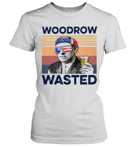 Beautiful American Flag Woodrow Wasted T-Shirt Classic Women's T-shirt