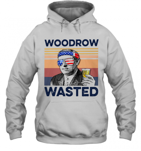 Beautiful American Flag Woodrow Wasted T-Shirt Unisex Hoodie