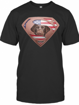 Blood Insides Superman Labrador Retriever American Flag Independence Day shirt T-Shirt