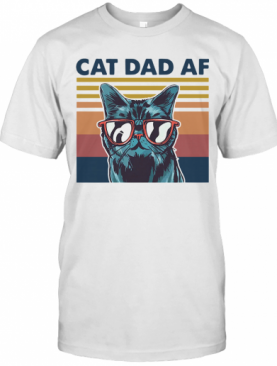 Cat Dad Af Glasses Vintage T-Shirt