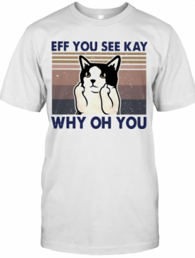 Cat Fuck Eff You See Kay Why Oh You Vintage T-Shirt