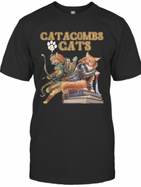 Catacombs And Paw Cats Books T-Shirt