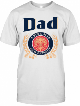 Dad A Fine Lineman And Patriot Father'S Day T-Shirt
