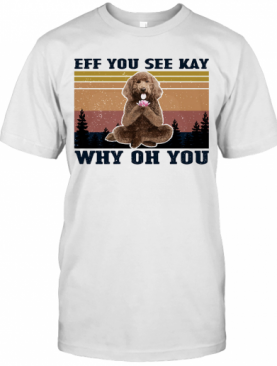 Eff You See Kay Why Oh You Poodle Yoga Vintage T-Shirt