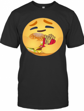 Facebook Care Emoji Hugging Hamburger And Fries T-Shirt