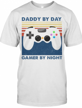 Family Daddy By Day Gamer By Night Vintage T-Shirt