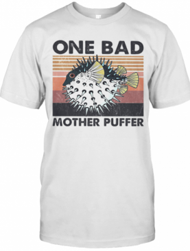 Fish One Bad Mother Puffer Vintage T-Shirt
