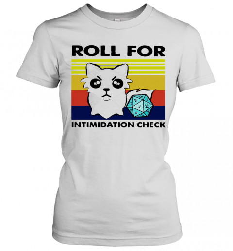 Fox Roll For Intimidation Check Vintage T-Shirt Classic Women's T-shirt
