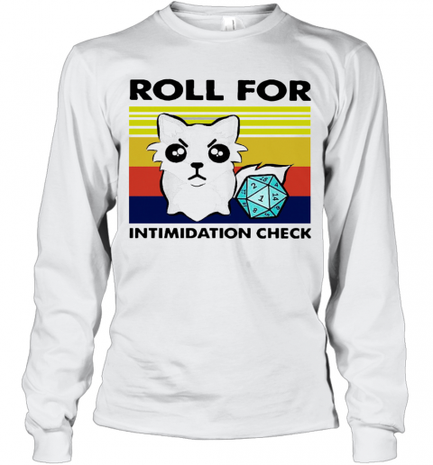 Fox Roll For Intimidation Check Vintage T-Shirt Long Sleeved T-shirt