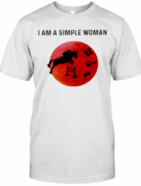 I Am A Simple Woman Horse Paw Wine T-Shirt