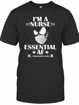 I'M Nurse Essential AF Coronavirus 2020 Version Jack Skellington T-Shirt