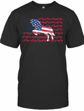 Independence Day Horses Running T-Shirt