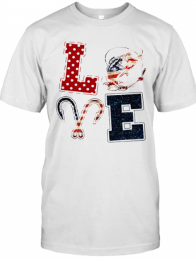 Independence Day Love Fishing T-Shirt