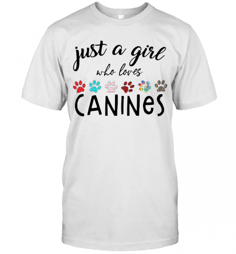 Just A Girl Who Loves Canines T-Shirt Classic Men's T-shirt