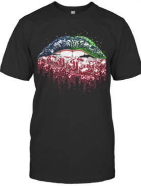 Lips Seattle Seahawks And Washington State Cougars T-Shirt