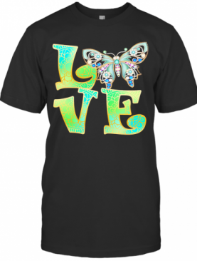 Love Butterfly Mandala T-Shirt