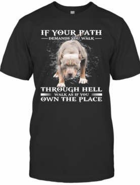 Pitbull If Your Path Demands You Walk Through Hell Walk As If You Own The Place T-Shirt