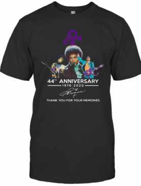 Prince 44th Anniversary 1976 2020 Thank You For The Memories Signature shirt T-Shirt