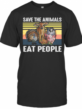 Save The Animals Eat People Vintage T-Shirt